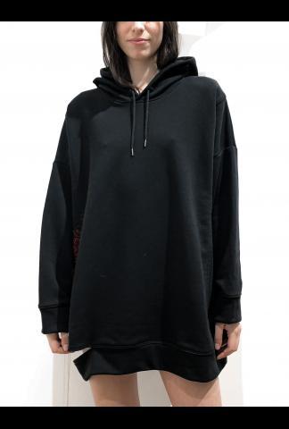 Isabel Benenato Embroidery hooded sweatshirt