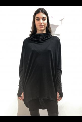 Isabel Benenato oversize turtle neck wool fine jersey