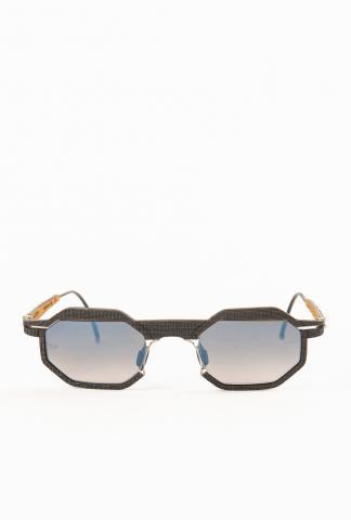 HAPTER Octagonal Steel + Textured Rubber Sunglasses