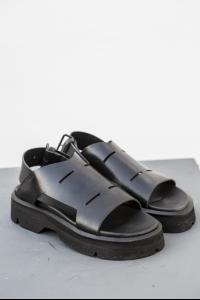 Julius_7 537FWM9 Buckled Full Grain Leather Sandals