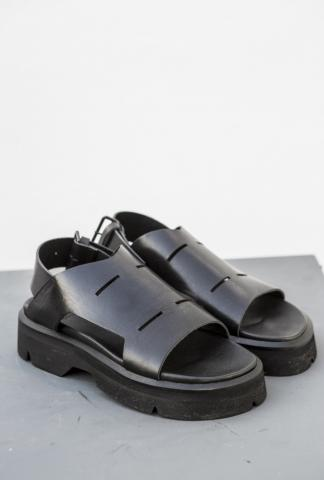 Julius_7 537FWM9 Buckled Full Grain Leather Sandals