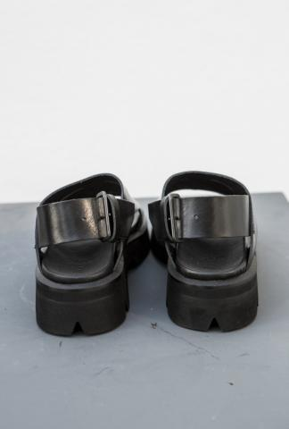 JULIUS_7 low sandals with splits and openings