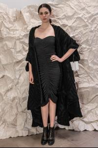 Alessandra Marchi Knitted Mohair Long Cape