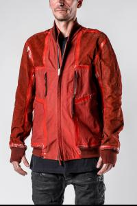 Boris Bidjan Saberi Dried Blood Red Reversible Seam Taped J3 Leather Jacket