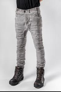Boris Bidjan Saberi Light Grey P14 Semi Hand-Stitched Trousers