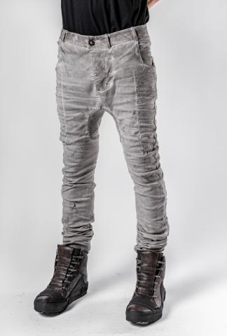 Boris Bidjan Saberi Light Grey P14 Semi Hand-Stitched Trousers