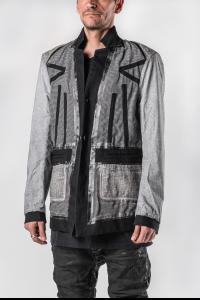 Boris Bidjan Saberi Reversible Black/Faded Seam Taped Light Grey SUIT2