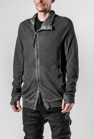 Boris Bidjan Saberi ZIPPER1 Resin Coated Cold Dyed High-neck Zipped Sweatshirt