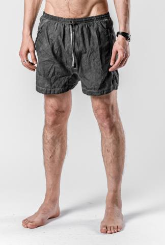 Boris Bidjan Saberi Dark Grey Resin Coated SWIM1 Swim Shorts