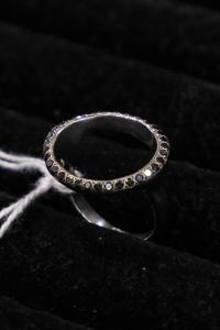 ROSA MARIA SILVER TREATED RING -TOP(1½mm) SILVER T