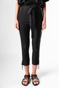 Ann Demeulemeester Rivale and Rigatino Black Rope Cuff Trousers