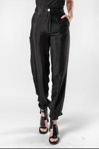 Ann Demeulemeester Moonrise Black Adjustable Cuff Trousers