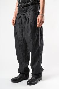 Individual Sentiments Textured Loose Waist Baggy Trousers