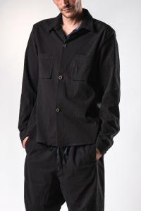 Individual Sentiments Textured Buttoned Work Jacket