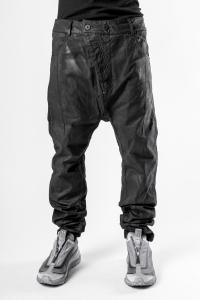 11ByBBS Coated P4C Low Crotch Buckle Trousers