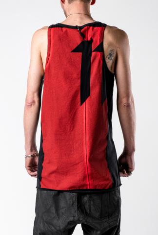 11byBBS T3 Classic Red Block Print Tank Top