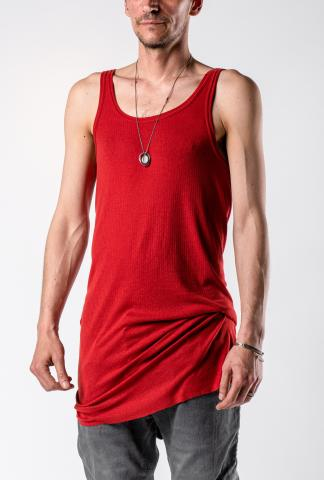 11byBBS T1B Red Dye Ribbed Layering Tank Top