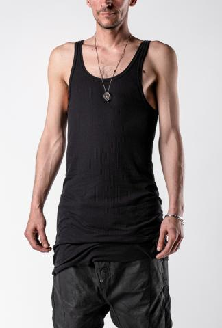 11byBBS T1B Black Dye Ribbed Layering Tank Top