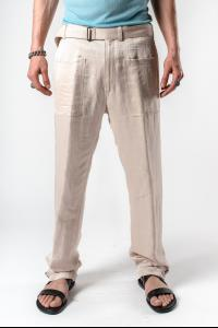 Ann Demeulemeester Straight Cut Integrated Belt Trousers (Alfonze Rosy)