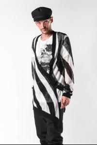 Ann Demeulemeester Asymmetric Knitted Cardigan (Egil Black)