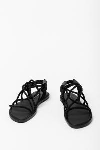 Ann Demeulemeester Tuscon Nero Rope and Leather Sandals
