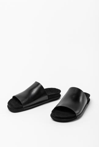 Ann Demeulemeester Leather Slides (Vacchetta Nero)