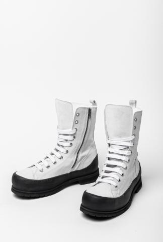 Ann Demeulemeester Scamosciato Ingrassato White Duck Boot Sneakers