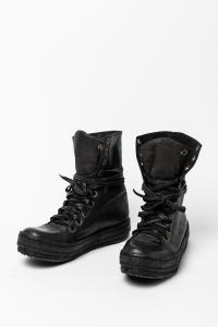 James Kearns Foldable black pig leather