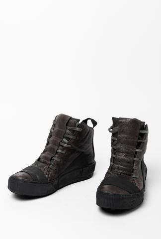 Boris Bidjan Saberi Dark Grey Kangaroo Leather BAMBA1 Sneakers