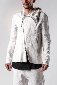 Leon Emanuel Blanck Anfractuous Distortion Linen Hooded LJ Jacket