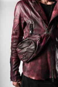 Leon Emanuel Blanck Anfractuous Distortion Dark Red Small Dealer Bag
