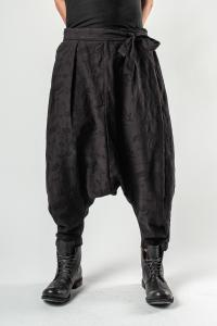 Aleksandr Manamis Flora Weave Low Crotch Trousers with Knot Suspenders