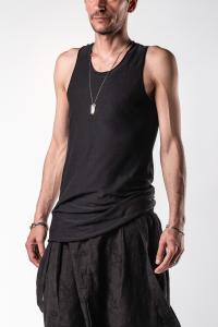 Aleksandr Manamis 100% Silk Raw Edge Tank Top