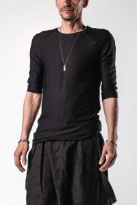 Aleksandr Manamis 100% Silk Semi Raglan Raw Edge T-shirt