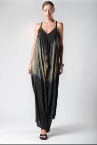 Atelier Septem Dust & Water Ombre Unsewn Safety Pin Silk Dress