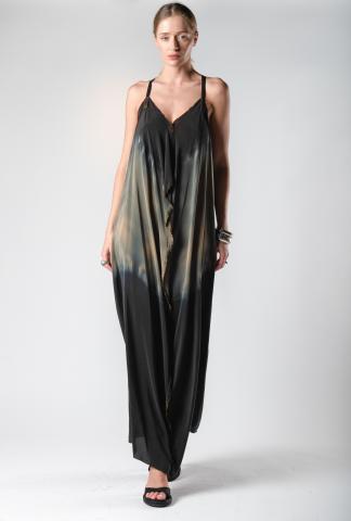 AtelierSeptem Dust & Water Ombre Unsewn Safety Pin Silk Dress (Elixir Exclusive)