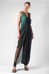 Atelier Septem Ocean Butterfly Semi Sheer Wrinkled Silk Dress (Elixir Exclusive)