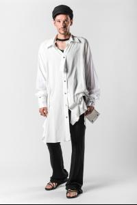 Ann Demeulemeester Double Cuff, Button Strap Oversized Shirt (Sidar Ecru and Tiriel White)