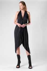 Theodora Bak Pleated Asymmetric Dress