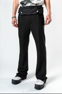 Ann Demeulemeester Buttoned Sailor Trousers