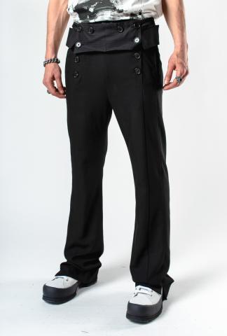 Ann Demeulemeester Buttoned Sailor Trousers