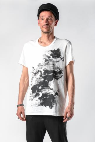 Ann Demeulemeester Printed Short Sleeve T-shirt (Elmer Off-White)
