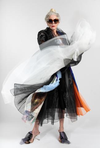 Quetsche Japanese Silk Organza Layered Coat