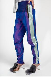Quetsche Iridescent Panelled Biker Trousers