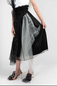 QUETSCHE Japanese Silk Organza Layered Skirt