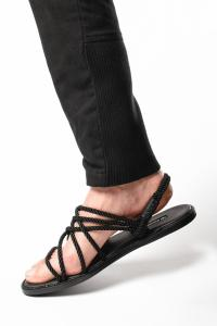 Ann Demeulemeester Rope and Leather Sandals (Tuscon Nero)