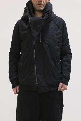 Julius_7 Hooded Slashed 2 zipper Jacket