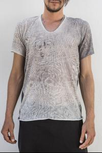 Label Under Construction Knitted Print Silk Short Sleeve T-shirt