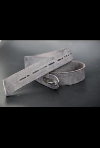 Devoa 30mm Leather Belt with Morse Code Holes