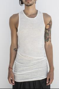 Isabel Benenato Elongated Slim Tank Top